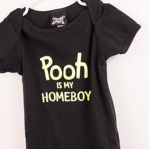 American Apparel Boy's Onsie 12/18m Homeboy Pooh